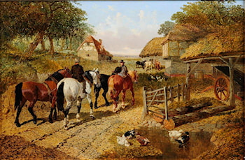 Glad to be home by John Frederick Herring, Jnr.
