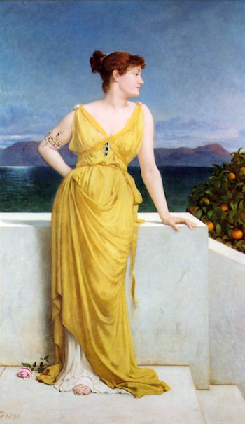 Mrs. Charles Kettlewell in Neo­classical Dress by Frederick Goodall