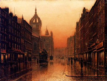 St. Giles Cathedral, Edinburgh by Louis H. Grimshaw
