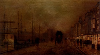 Glasgow Docks by Louis H. Grimshaw
