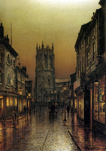 Evensong Saintpeters Church Leeds by Louis H. Grimshaw