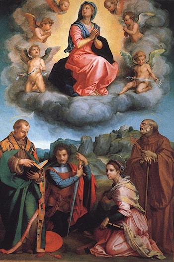 Virgin with Four Saints by Andrea del Sarto