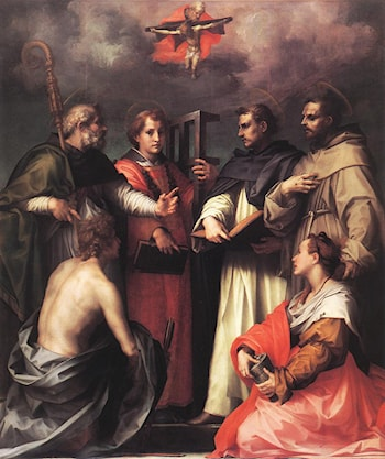 Disputation over the Trinity by Andrea del Sarto