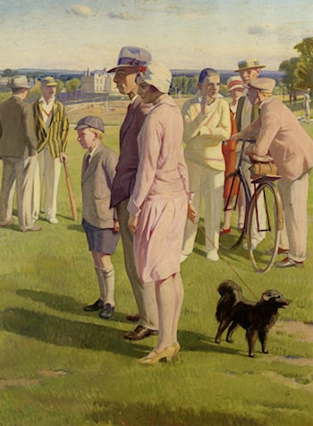 Saturday Afternoon The Cricket Match on Blackheath by Francis H Dodd
