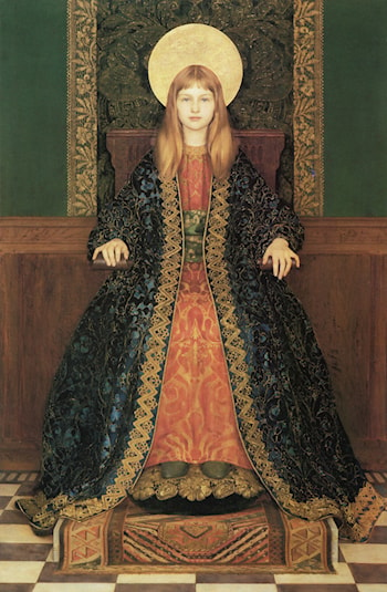 The Child Enthroned by Thomas Cooper Gotch