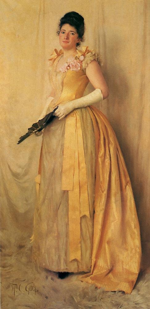 The Lady in Gold - A Portrait of Mrs. John Crooke