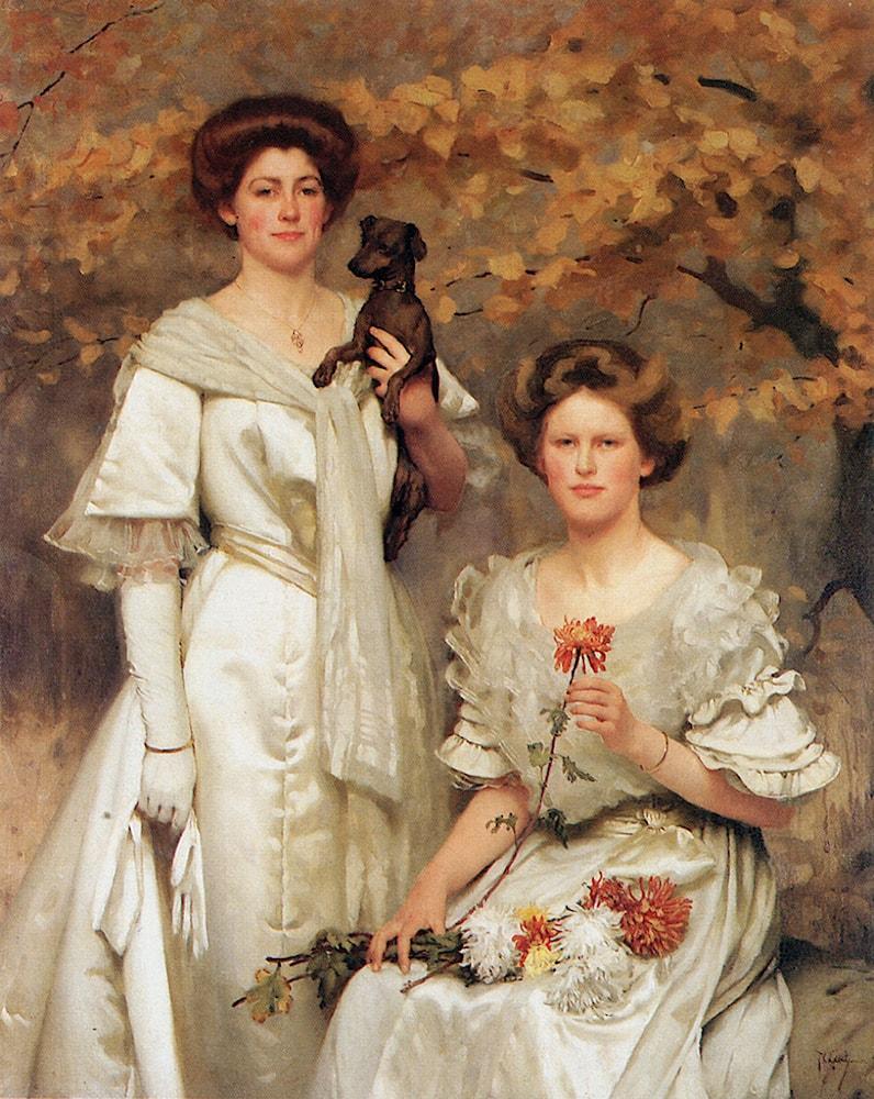 Hilda and Margaret, daughters of Professor sir Edward Poulton