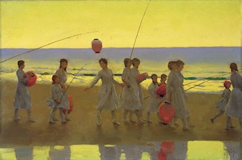 The Sand Bar by Thomas Cooper Gotch