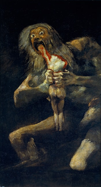 Saturn Devouring His Sons by Francisco de Goya