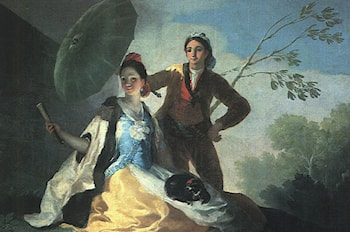 The Parasol by Francisco de Goya
