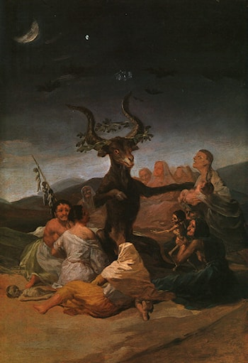 Witches Sabbath by Francisco de Goya