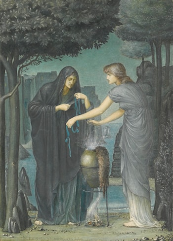 Draw Him Hither by John Roddam Spencer Stanhope