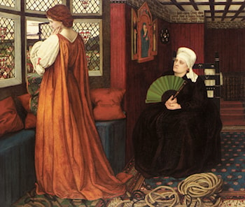 Juliet and the Nurse by John Roddam Spencer Stanhope
