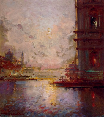 Venice At Dusk by Henri Duvieux