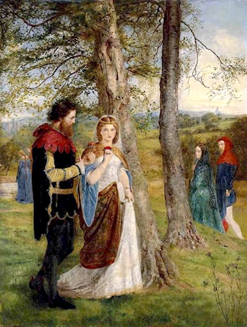 Sir Lancelot and Queen Guinevere by James Archer