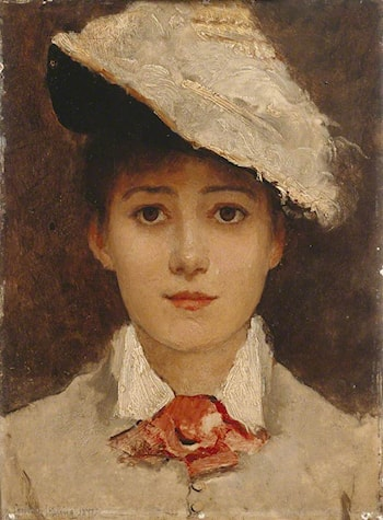 Self portrait by Louise Jopling