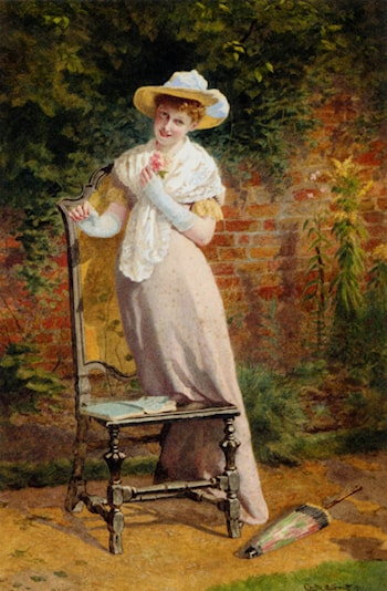 In The Garden by Carlton Alfred Smith