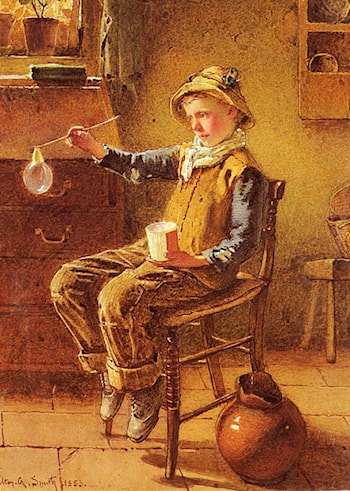 Blowing Bubbles by Carlton Alfred Smith