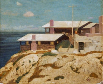 'Pacific Patterns', the Artist's House at Berkeley, California by Maxwell Armfield