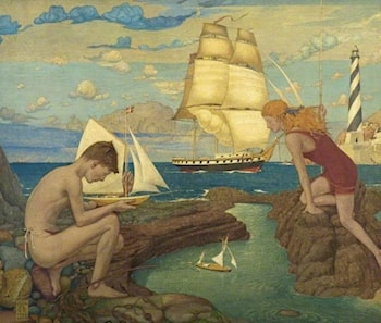 I Saw Three Ships by Maxwell Armfield