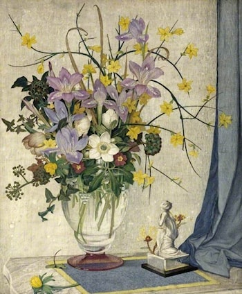 January Flowers by Maxwell Armfield