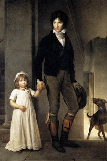 Jean­Baptist Isabey, Miniaturist, with his Daughter by Francois Gerard