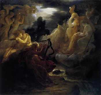 Ossian Awakening the Spirits on the Banks of the Lora with the Sound of his Harp by Francois Gerard