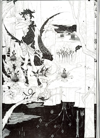 Illustration to 'Siegfried', Act II by Aubrey Beardsley