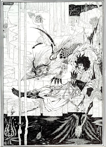 How King Arthur Saw the Questing Beast by Aubrey Beardsley