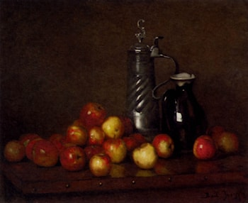 Apples with a Tankard and Jug by Claude Joseph Bail