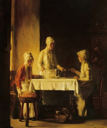 Preparing The Meal by Claude Joseph Bail