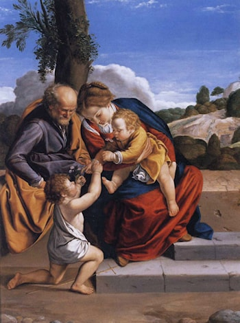 Holy Family with the Infant Saint John the Baptist by Orazio Gentleschi
