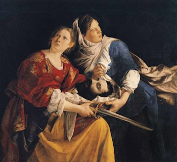 Judith and Her Maidservant with the Head of Holofernes by Orazio Gentleschi