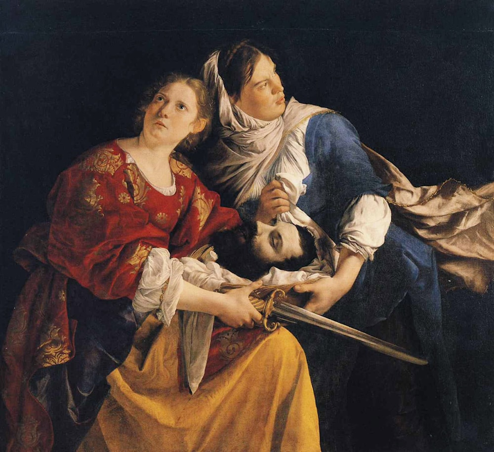 "judith and maidservant with the head ""judith and holofernes"" continued to be portrayed a number of times by artists in the 17th century,  judith with holofernes' head, c 1618,."