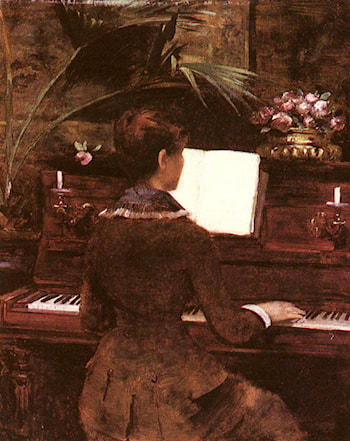 At the Piano by Louise Abbema