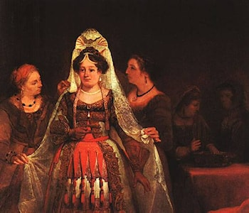 The Jewish Bride (Esther Bedecked) by Aert de Gelder