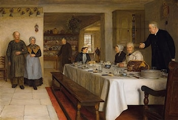 A Christmas Dinner at the Rectory by Edith Hayllar