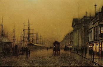 Salthouse Docks2 by John Atkinson Grimshaw