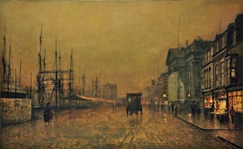 The Custom House, Liverpool, Looking North by John Atkinson Grimshaw