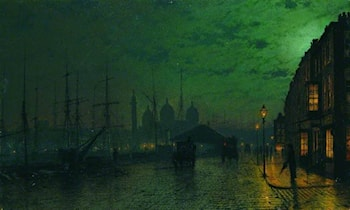 Princes Dock, Hull by John Atkinson Grimshaw