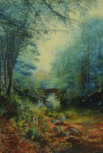 A Wooded Valley by John Atkinson Grimshaw