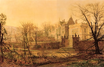 Knostrop Hall, Early Morning by John Atkinson Grimshaw