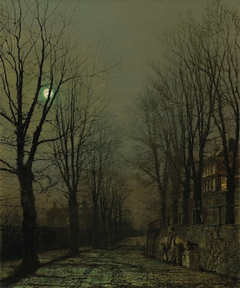 Moonlight and Shadow  by John Atkinson Grimshaw