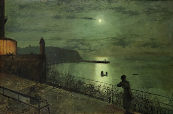 Scarborough from the seats near The Grand Hotel by John Atkinson Grimshaw