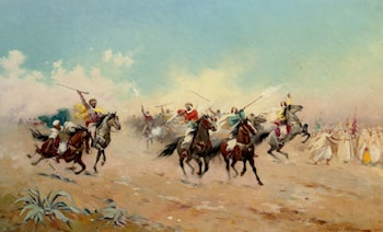 A Cavalry Charge by Jules Monge