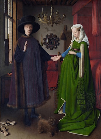 Portrait of Giovanni Arnolfini and his Wife by Jan van Eyck
