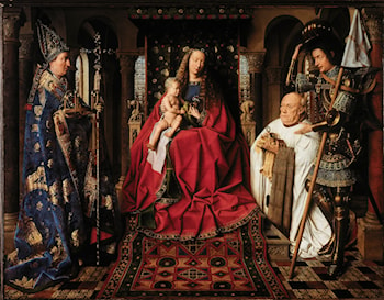 The Virgin and Child with Canon van der Paele by Jan van Eyck