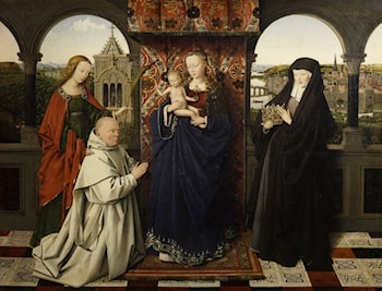 Virgin and Child, with Saints and Donor by Jan van Eyck