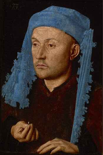 Man in a Blue Cap by Jan van Eyck