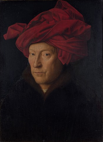 Portrait of a Man in a Turban by Jan van Eyck